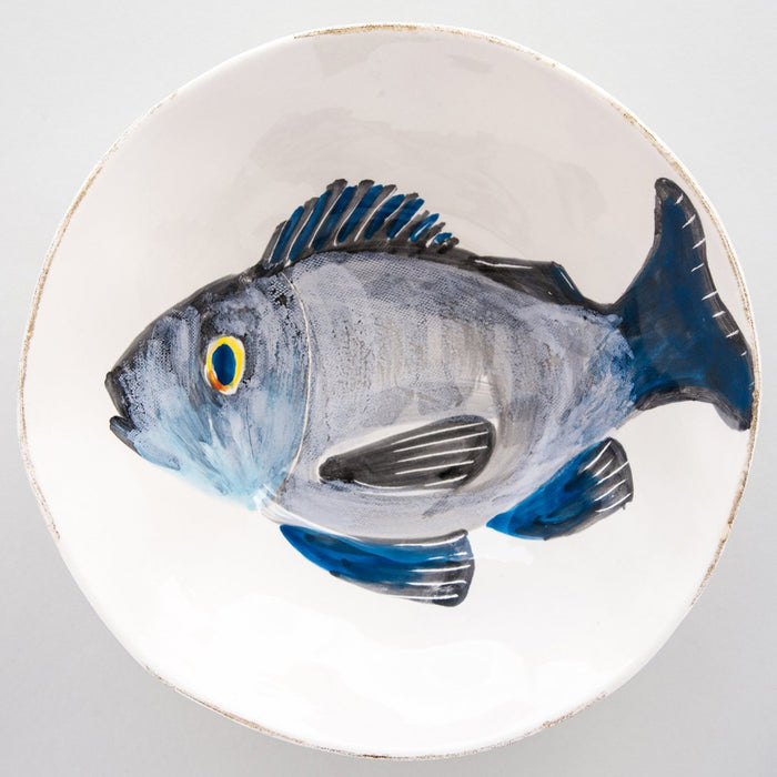 "Handcrafted Ceramic Branzino Serving Bowl (10.125"" ⌀)"