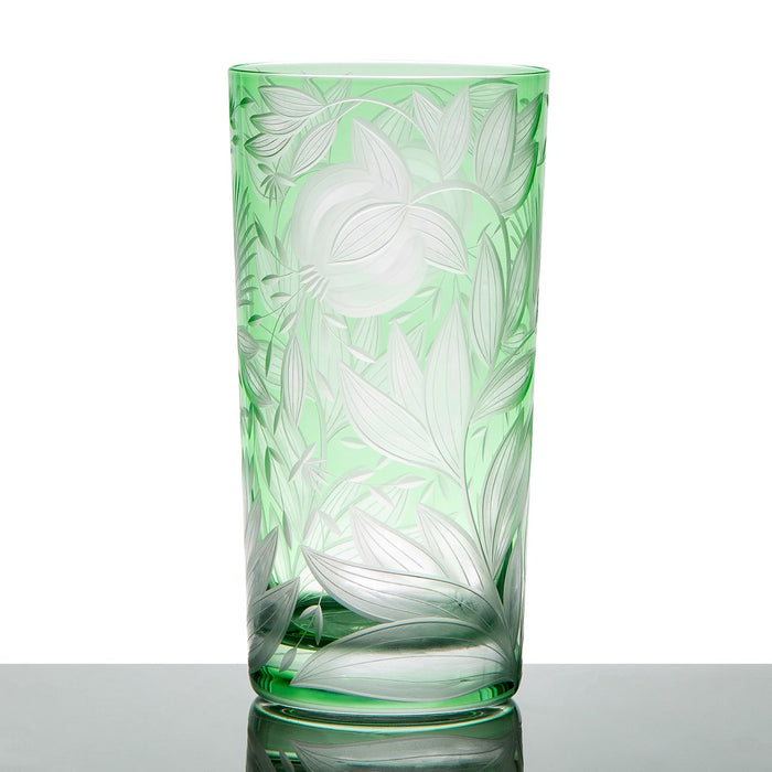 Handcrafted Green Crystal Tumbler