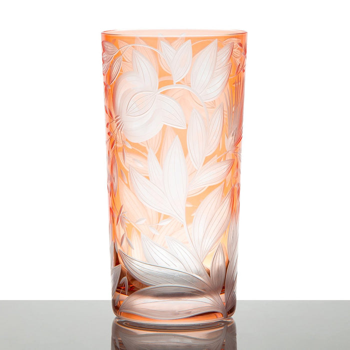 Handcrafted Orange Crystal Tumbler