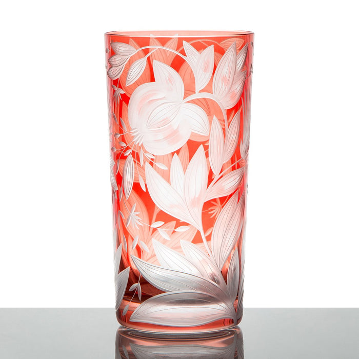 Handcrafted Red Crystal Tumbler