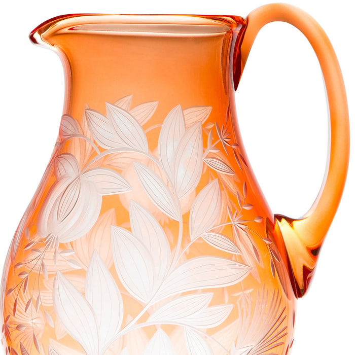 Handcrafted Verdure Crystal Pitcher
