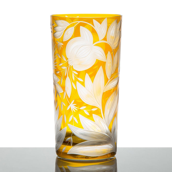 Handcrafted Yellow Crystal Tumbler
