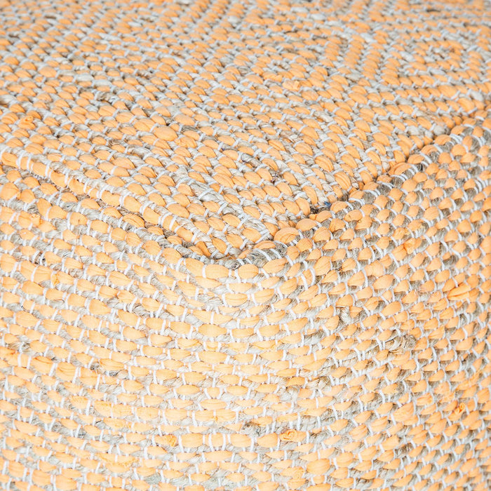 Handmade Abella Pouf (Orange)