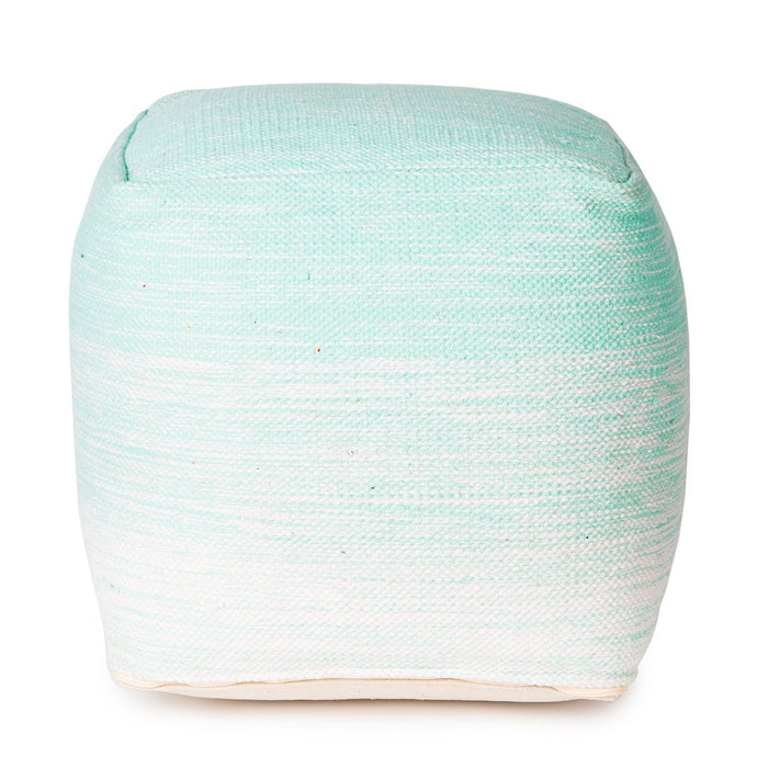 Handmade Delight Pouf (Turquoise)