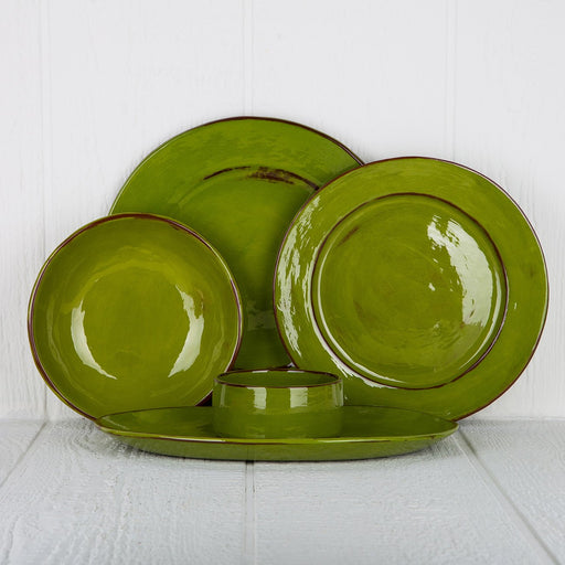 Handmade Green French Dinnerware