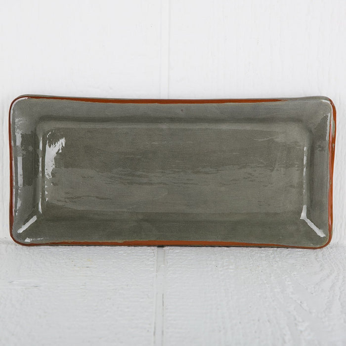 Handmade Grey Rectangle Serving Dish