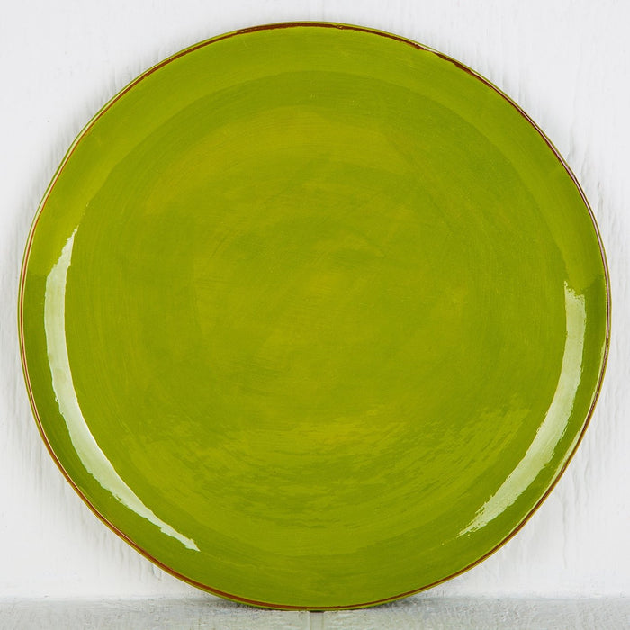 Handmade Light Green Pie Plate