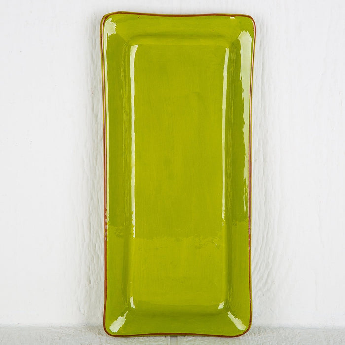 Handmade Light Green Rectangle Serving Dish