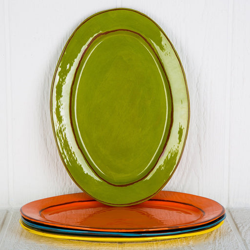 Handmade Light Green Serving Platter (Large)
