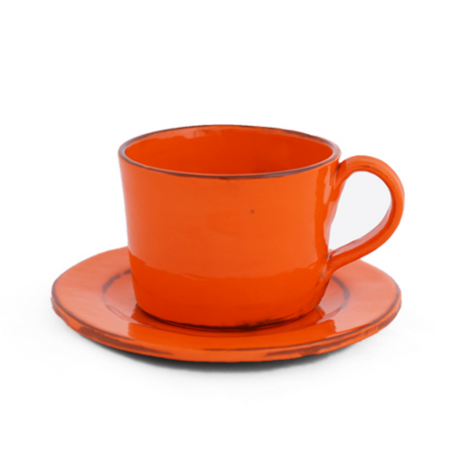 Handmade Orange Cappuccino Mug