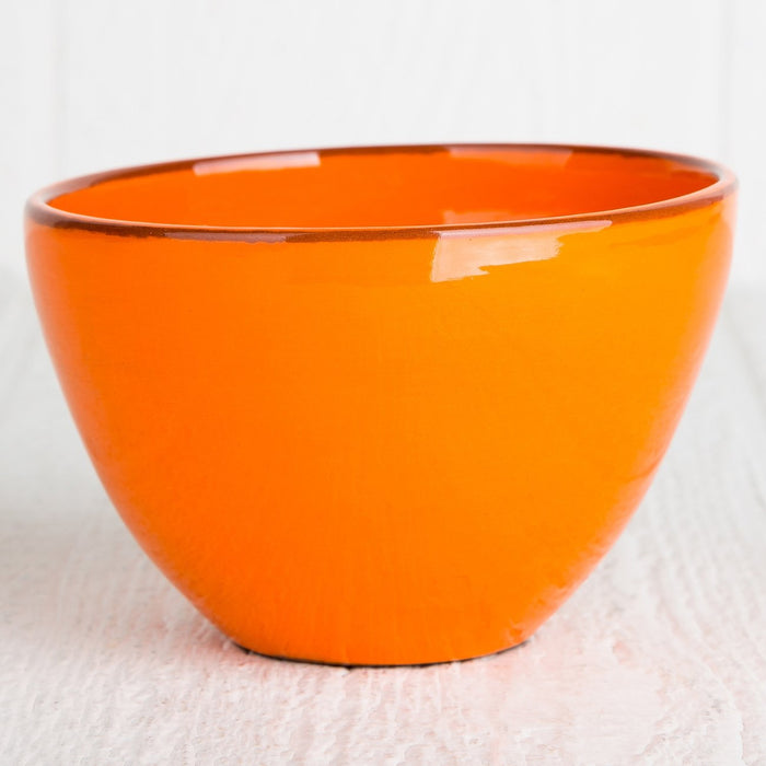 Handmade Orange Cereal Bowl