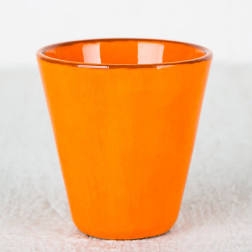 Handmade Orange Coffee Cup (Medium)