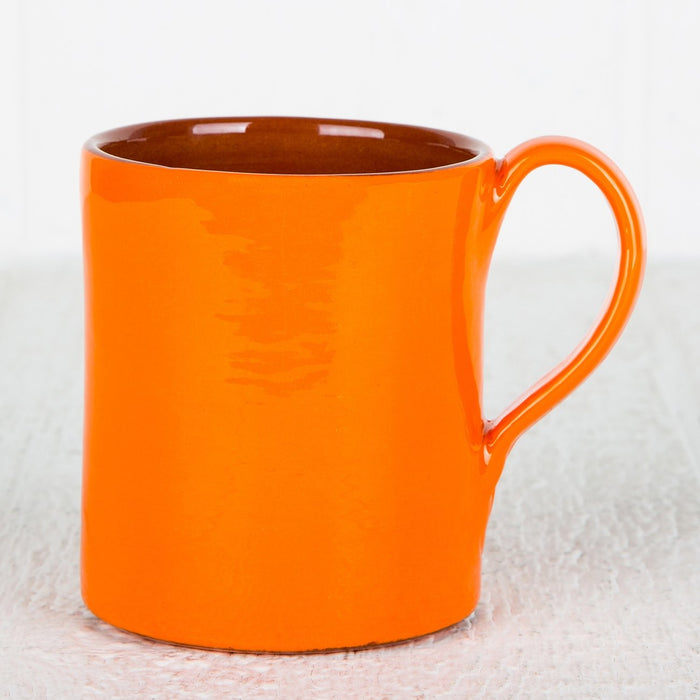 Handmade Orange Coffee Mug