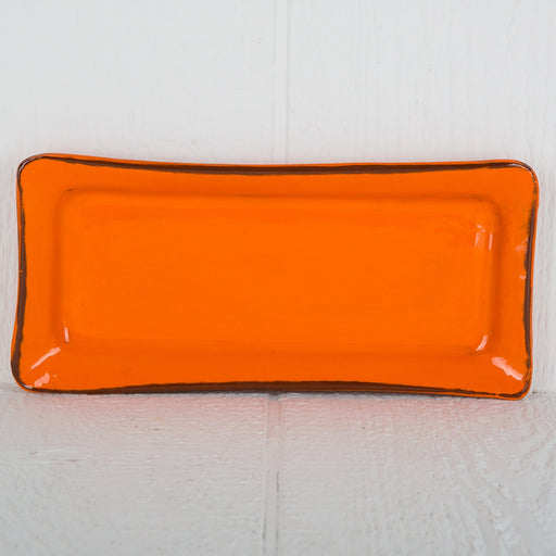 Handmade Orange Rectangle Serving Dish