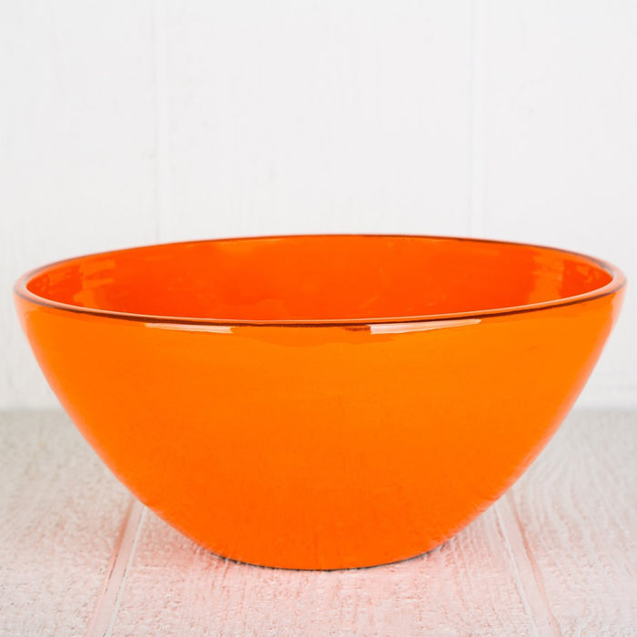 Handmade Orange Salad Bowl
