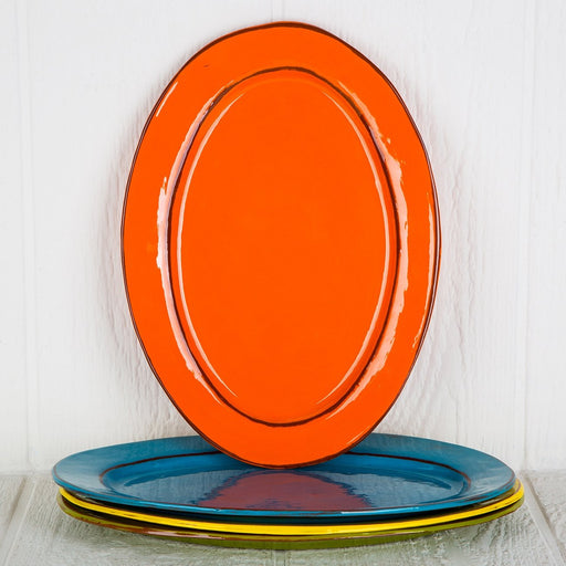 Handmade Orange Serving Platter (Large)