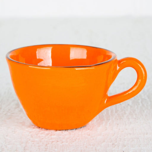 Handmade Orange Teacup