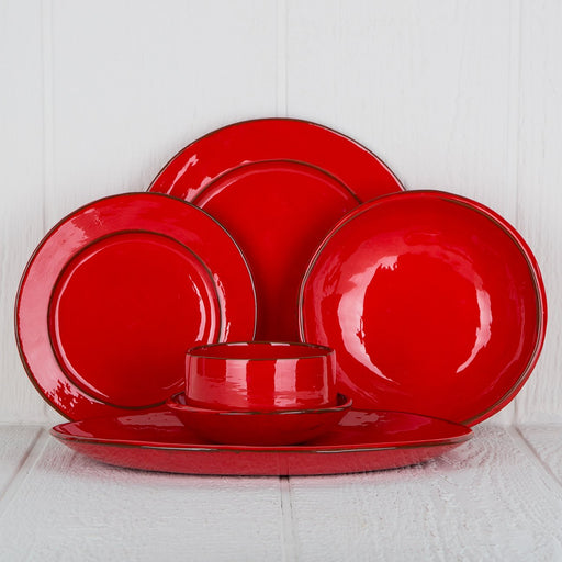 Handmade Red French Dinnerware