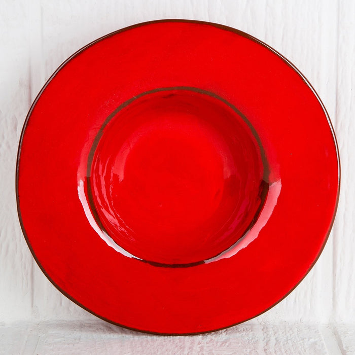 Handmade Red Gourmet Bowl