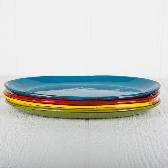 Handmade Red Oval Serving Dish