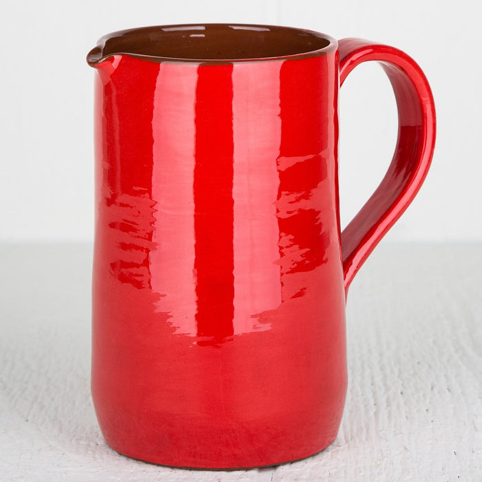 Handmade Red Pitcher (Large)