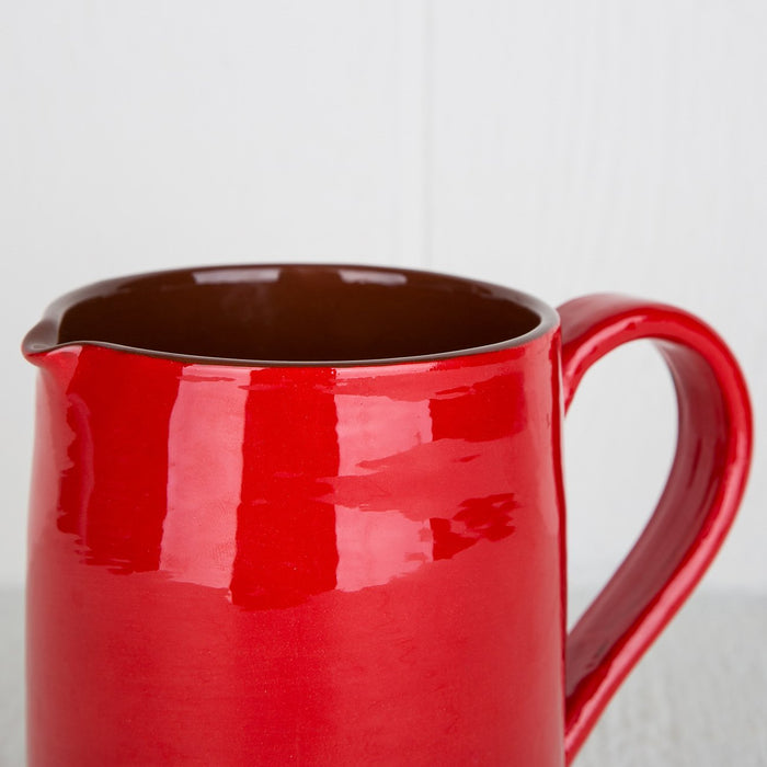 Handmade Red Pitcher (Medium)