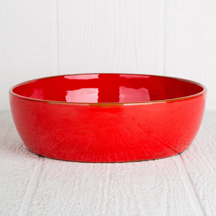 Handmade Red Serving Bowl