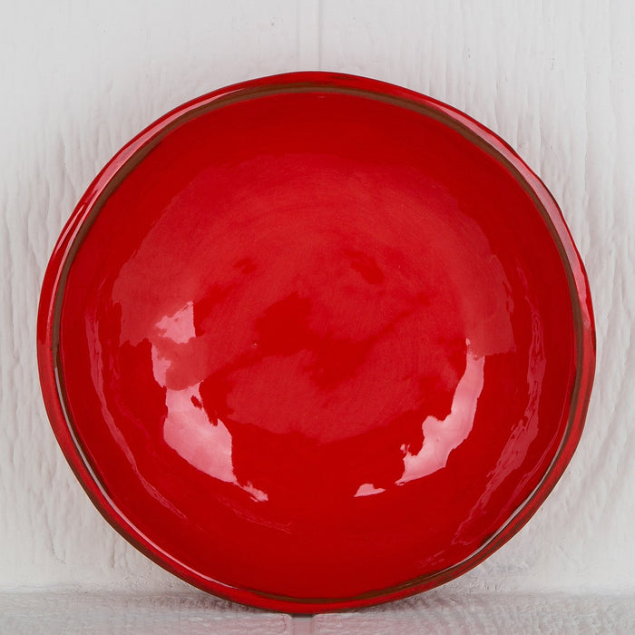 Handmade Red Soup Bowl
