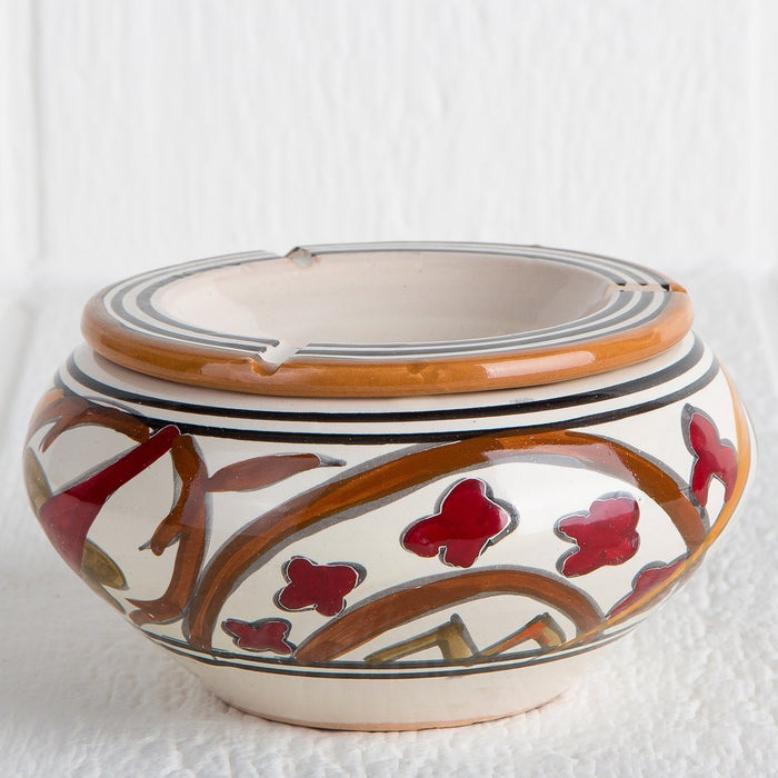 Handmade Red Tunisian Ashtray (Small)