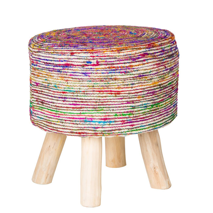 Handmade Silk Stool