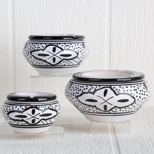 Handmade Tunisian Ashtrays (Black)