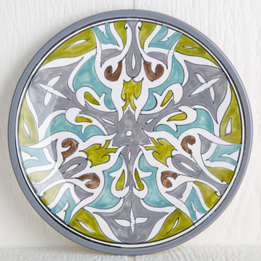 Handmade Tunisian Dinner Plate (Grey)