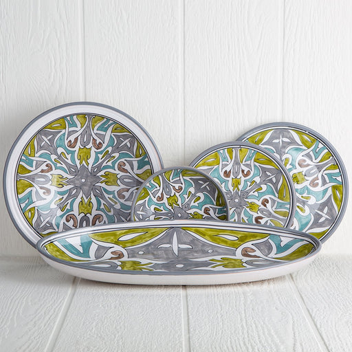 Handmade Tunisian Dinnerware (Grey)