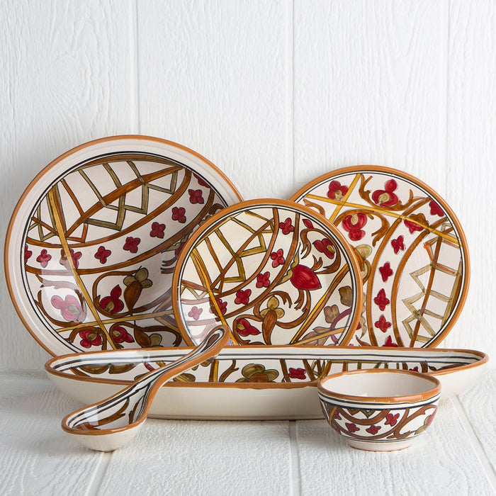 Handmade Tunisian Dinnerware (Red)