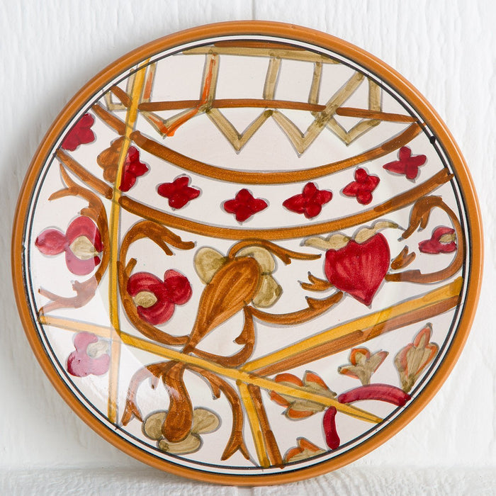 Handmade Tunisian Salad Plate (Red)