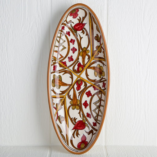 Handmade Tunisian Serving Platter (Red)