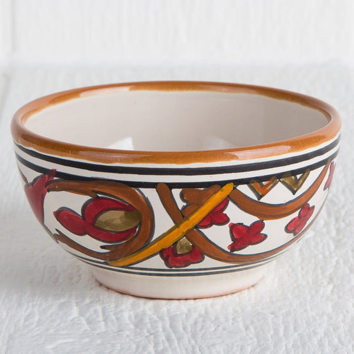 Handmade Tunisian Soup Bowl (Red)