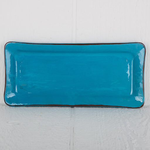 Handmade Turquoise Rectangle Serving Dish