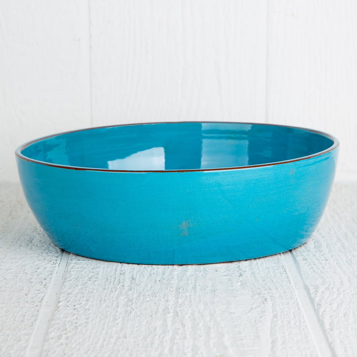 Handmade Turquoise Serving Bowl