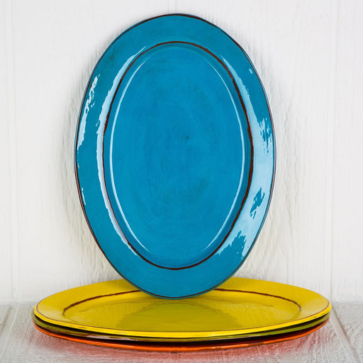 Handmade Turquoise Serving Platter (Large)