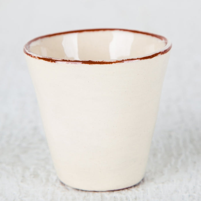 Handmade White Coffee Cup (Small)