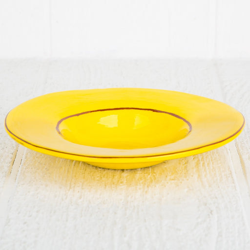 Handmade Yellow Gourmet Bowl