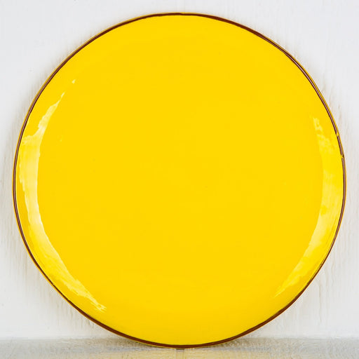 Handmade Yellow Pie Plate