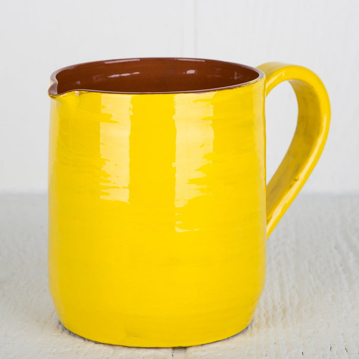 Handmade Yellow Pitcher (Medium)