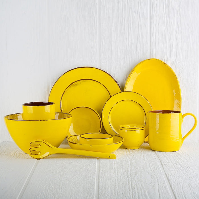 Handmade Yellow Serving Bowl