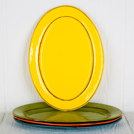 Handmade Yellow Serving Platter (Large)