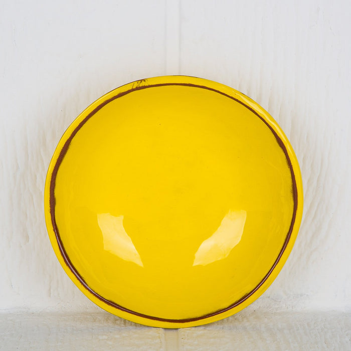 Handmade Yellow Soup Bowl