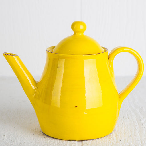 Handmade Yellow Teapot