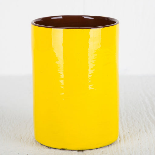 Handmade Yellow Utensil Holder
