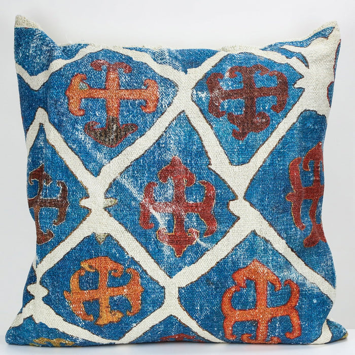 "Handwoven Turkish Kilim Pillow (21.75 x 23.75"")"